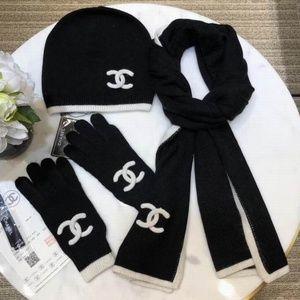 c scarves beanies gloves set